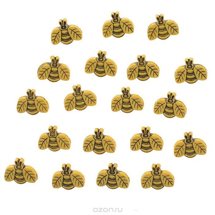 Декоративные пуговицы Dress It Up Пчелы, 17 шт