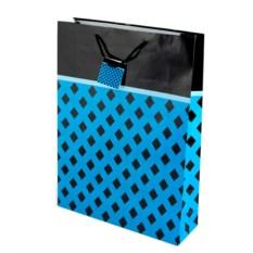 Бумажный ламинированный пакет (цвет — синий, черный)