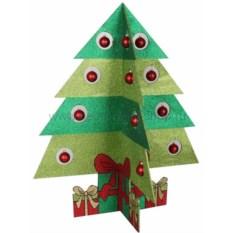 Елочная игрушка Елочка зеленого цвета