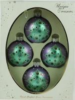 Набор ёлочных игрушек, шарики с узором «Елка», 7 см