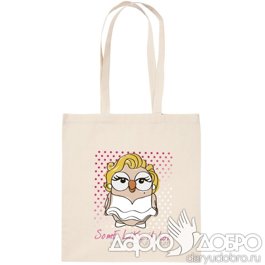 ЭКО-сумка с совой Мэрилин