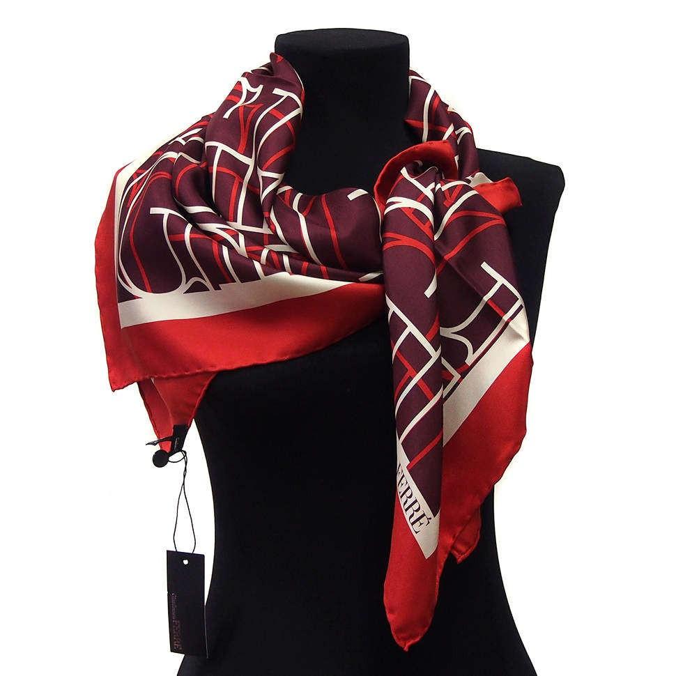 Темно-красный платок с буквами Gianfranco Ferre