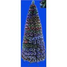 Оптоволоконная светящаяся заснеженная елка Веер