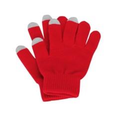 Красные перчатки для сенсорного экрана