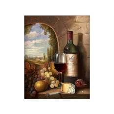 Алмазная вышивка «Натюрморт с вином»