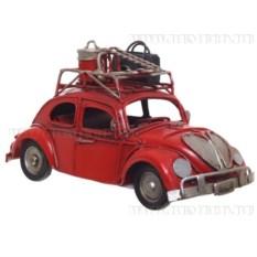 Модель автомобиля с багажником на крыше (цвет - красный)