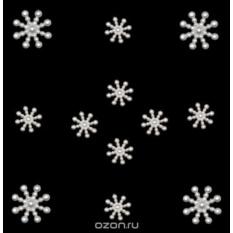Пуговицы декоративные Dress It Up Жемчужные снежинки