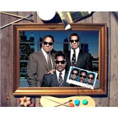 Тройной портрет по фото Друзья