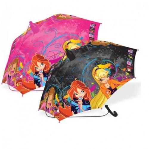 Детский Зонт - трость WINX с чехлом PinkBlack Rock