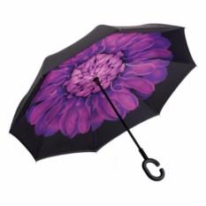 Зонт-наоборот с фиолетовым цветком