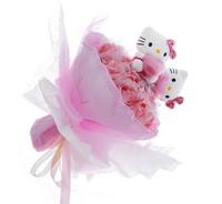 Букет из игрушек Котята в розах