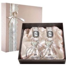 Набор свадебных бокалов №52 в подарочной коробке