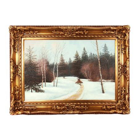 Картина «Зимняя дорога в лесу»