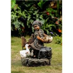 Садовый фонтан Девочка и утки