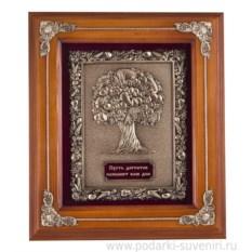 Светло-коричневая ключница Древо изобилия
