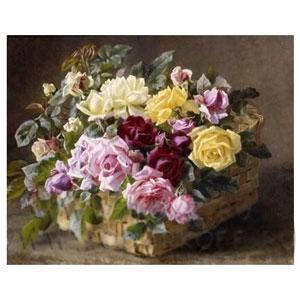 Картина «Цветы с корзиной»