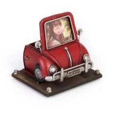 Фоторамка с подставкой для ручек Красный автомобиль