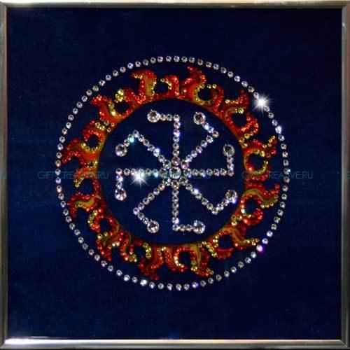 Картина с кристаллами Swarovski  Оберег - Колядник