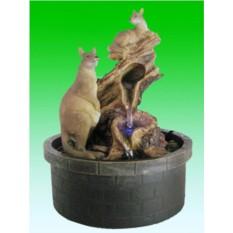 Настольный фонтан с подсветкой Семейство кенгуру