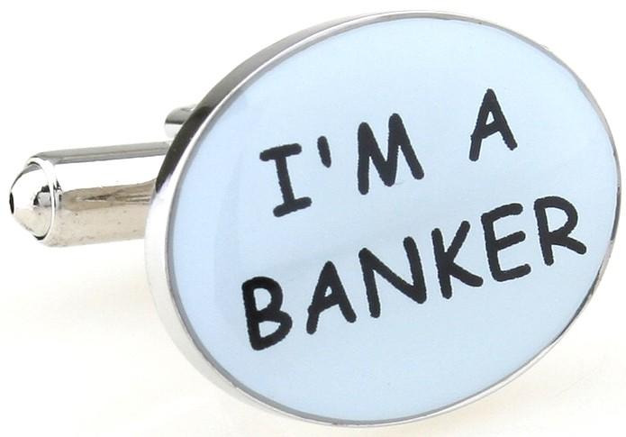 Мужские запонки I'm a banker. Trust me