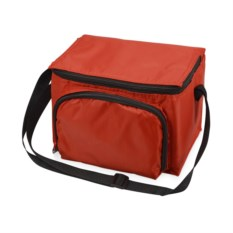Красная сумка-холодильник на молнии на 3 литра