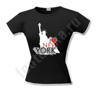 Футболка женская I love New York, черная