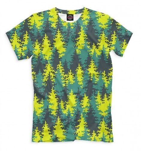 Мужская футболка Лес елок