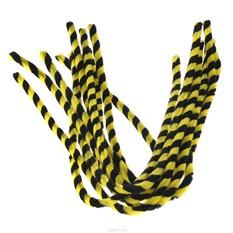 Синель-проволока Folia, цвет: черный, желтый, 10 шт
