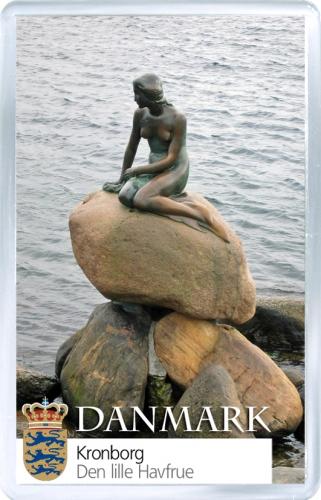 Магнит: Дания. Скульптура Русалочки в Копенгагене