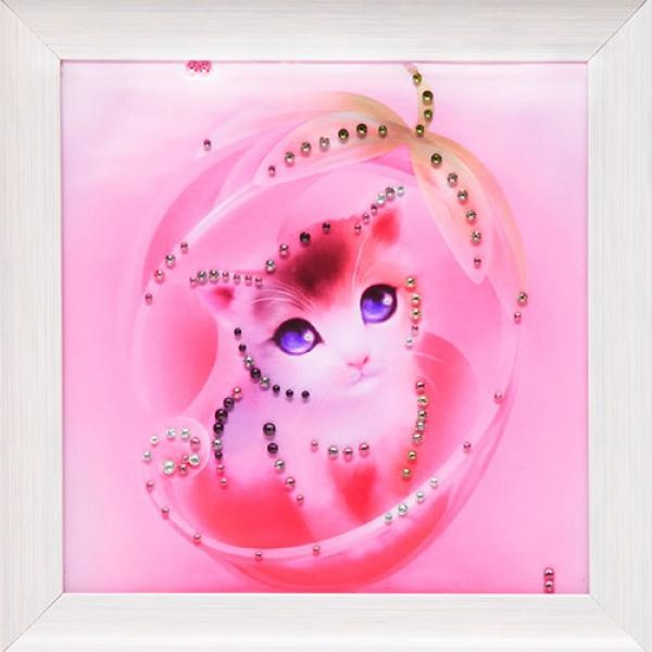 Картина с кристаллами Swarovski Киса моя
