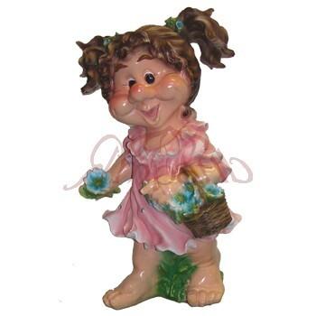 Садовая фигурка Девочка с хвостиками