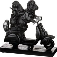 Фигурка на подставке из серии ретро Собаки на мопеде