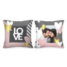 Комплект подушек с вашим фото Love