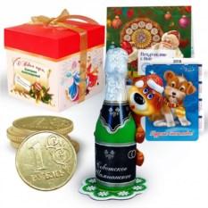 Набор с новогодней свечой «Советское шампанское»