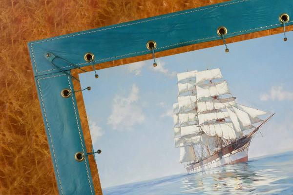 Картина из кожи Идеальные паруса Доусон Монтегю (прямоуг.)