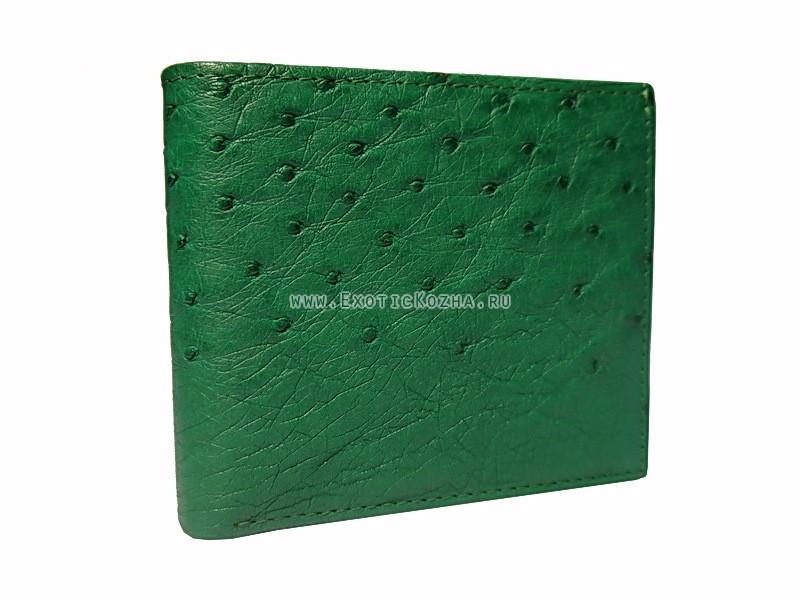 Мужской кошелек из страусиной кожи