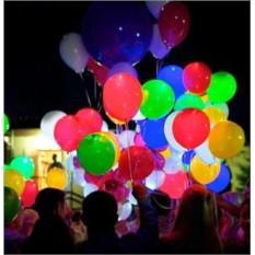 Светящиеся воздушные шарики I Love You