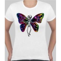 Женская футболка Бабочка скелет