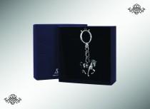 Серебряный брелок для ключей «Лошадь» с чернением