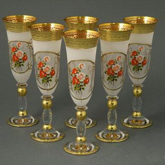Набор фужеров для шампанского «Роза»