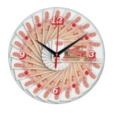 Настенные часы с изображением денежных купюр