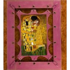 Картина из кожи Поцелуй Г.Климт