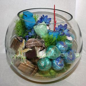 Букет из конфет «Подводный мир»