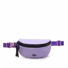 Малая фиолетовая лаковая поясная сумка Якорь