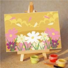 Раскраска по номерам для детей Цветочки