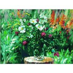 Картина по номерам «Лесные ромашки»
