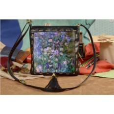 Женская сумка-планшет с принтом Сиреневое поле
