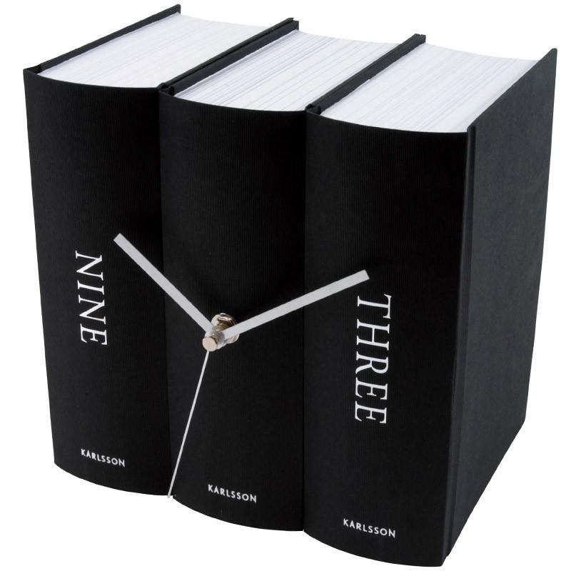 Часы Book black paper