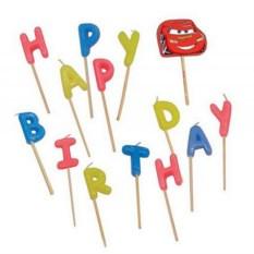 Свечи на торт Тачки Happy Birthday