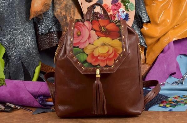 Женский рюкзак с принтом Хохлома